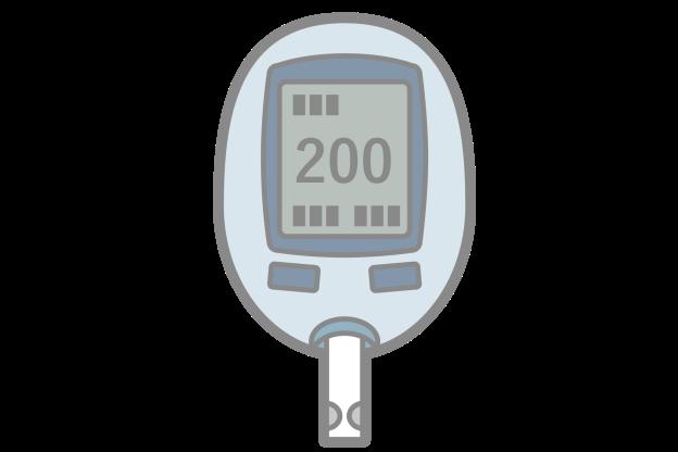 血糖値測定器のイラスト画像